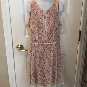 Material Girl open back lace dress